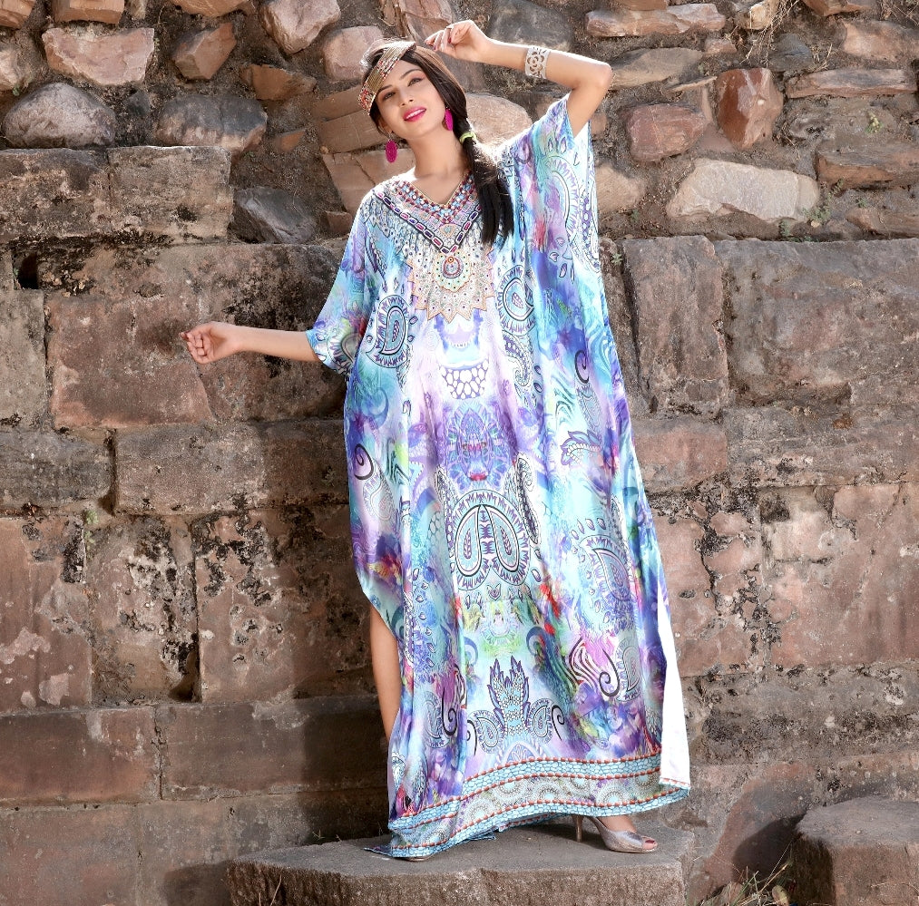 Beach kaftan dress for beaded/one piece jeweled full length kaftan/long kaftans/luxury resort wear caftan plus 89 - Silk kaftan