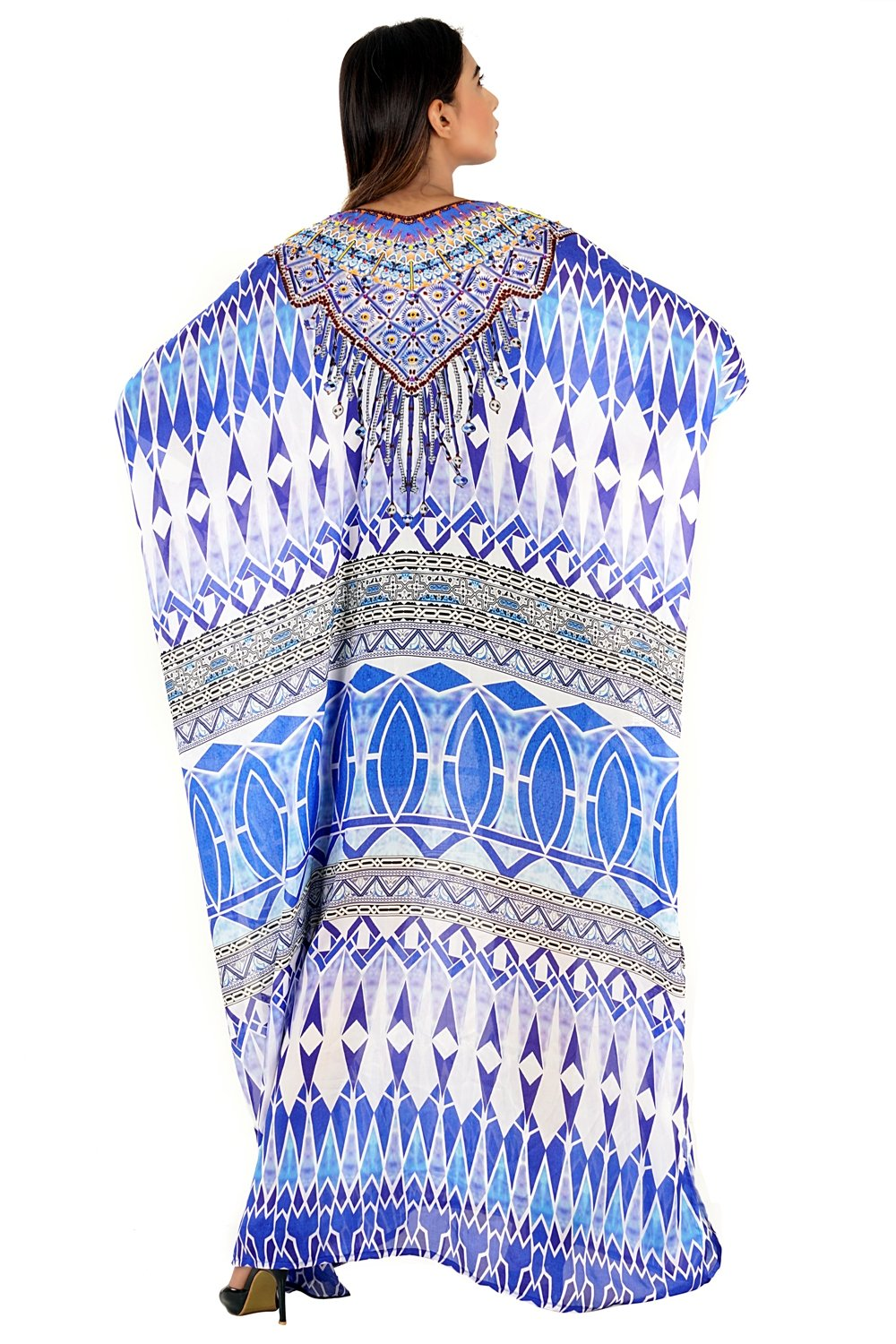 kaftan silk tops