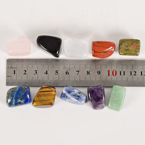 Chakra Gemstone Set for Alignment (10pc w/ Case)