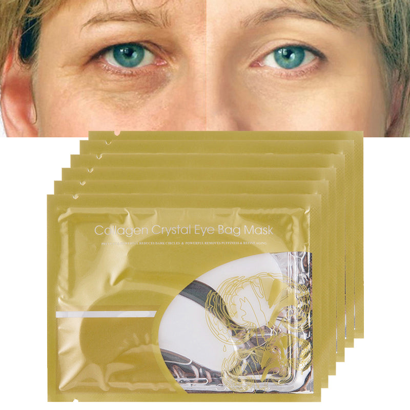 10pair=20pcs Crystal Collagen Eye Mask Crystal Eyelid Patch Anti Wrinkle Moisture Under Eye Dark Circle Remover Eye Patch