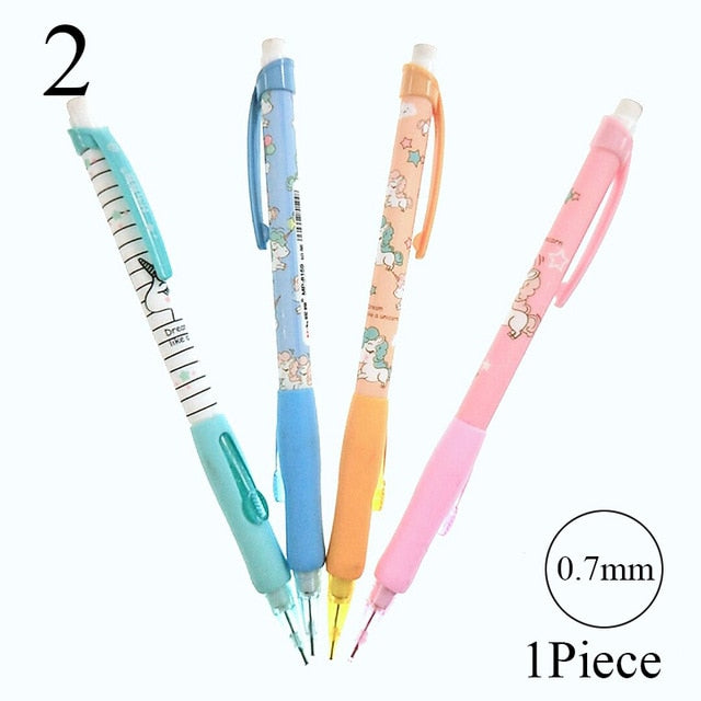 1PC 0.5/0.7mm Cute Kawaii Rabbit Cat Mechanical Pencil Cartoon Animal Automatic Pens For Kids Korean Stationery Student Supplies