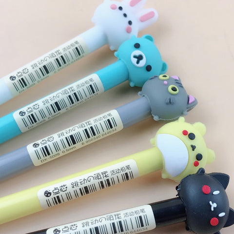 Image of 1PC 0.5/0.7mm Cute Kawaii Rabbit Cat Mechanical Pencil Cartoon Animal Automatic Pens For Kids Korean Stationery Student Supplies