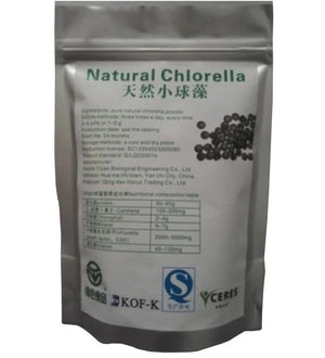100% Chlorella Tablets: Certified Organic