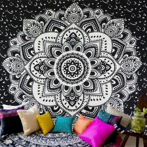 "Image of Blissed Out Mandala Tapestries (Large 59"" x 59"")"