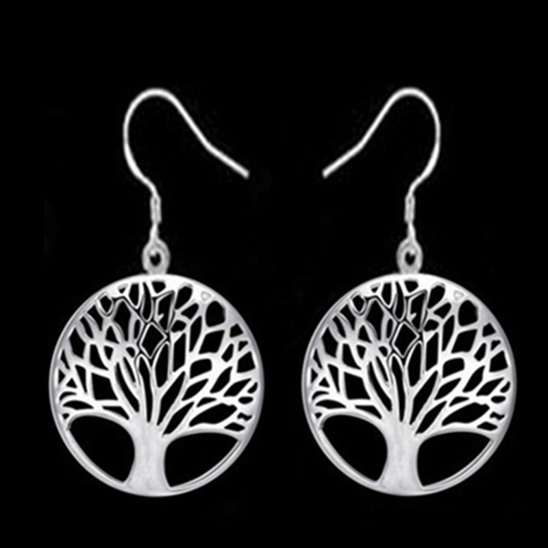 2018 round hollow wishing tree pendant necklace life tree Tree Of Life pendant necklace silver jewelry fashion cute wedding part