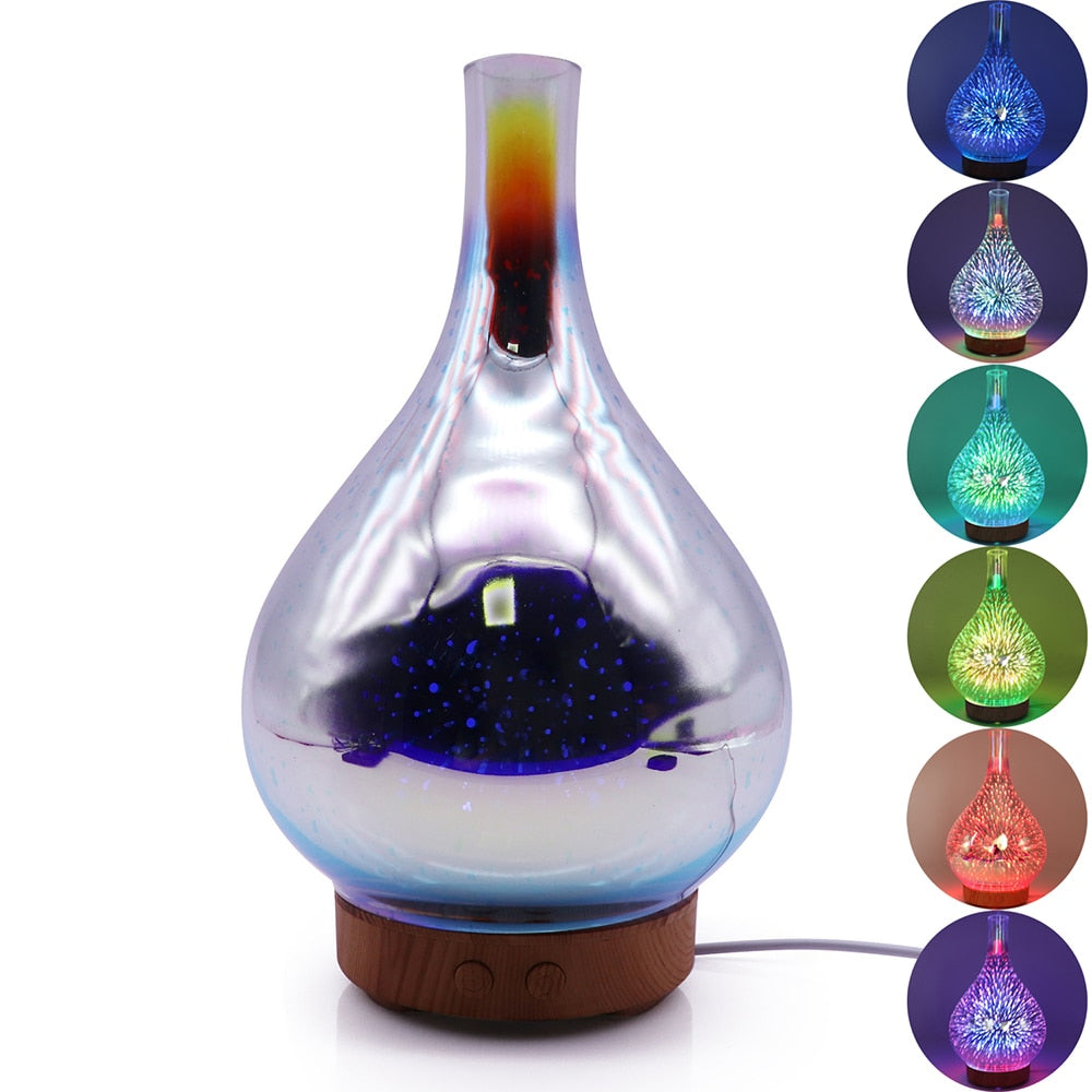 3D Fireworks LED Humidifier/ Essential Oil Diffuser
