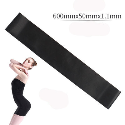 Image of 5 Colors Yoga Resistance Rubber Bands Indoor Outdoor Fitness Equipment 0.35mm-1.1mm Pilates Sport Training Workout Elastic Bands