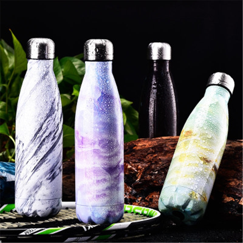 500ML Car Hiking Trip Vacuum Flask Stainless Steel Thermos Portable Vacuum Insulated Water Bottle Sport Thermal Thermos Flask