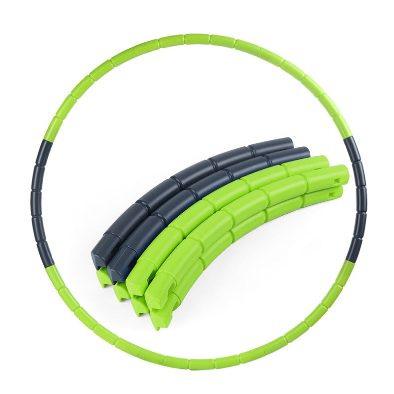 7 Parts Hot Selling Plastic Abdominal Fitness Sport Hoops Disassemble Massage Health Weight Loss Equipment Waist Slimming Loops