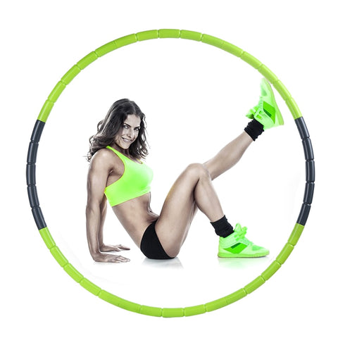 Image of 7 Parts Hot Selling Plastic Abdominal Fitness Sport Hoops Disassemble Massage Health Weight Loss Equipment Waist Slimming Loops