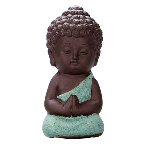 Image of Mini Om Meditating Monk Statue