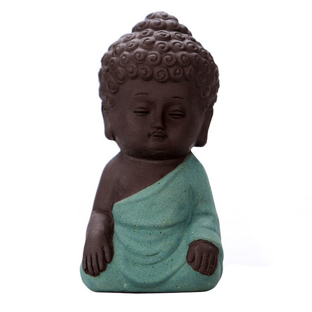 Mini Om Meditating Monk Statue