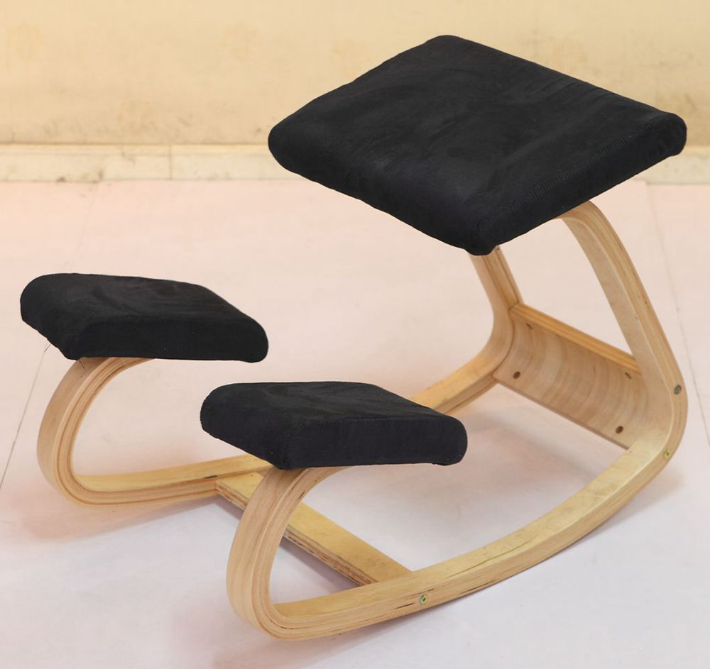 A,Original Ergonomic Kneeling Chair Stool Home Office Furniture Ergonomic Rocking Wooden Kneeling Computer Posture Chair Design
