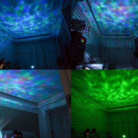 Image of Multi-color LED Light Wave Projector & Music Player