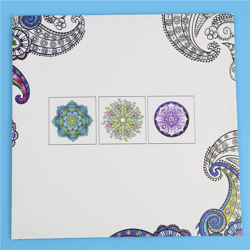 Coloring Mandalas Book Books for Adults Kids Antistress Books Antistress Secret Garden Quiet Color Drawing 18.5 *18.5cm 24Pages