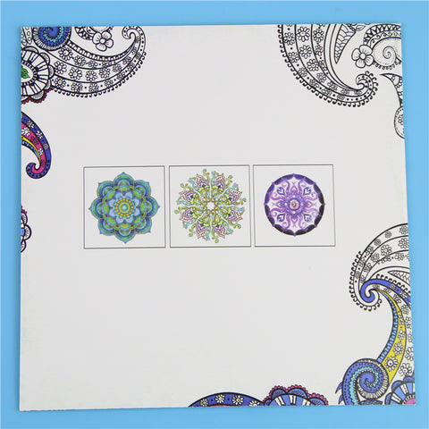 Image of Coloring Mandalas Book Books for Adults Kids Antistress Books Antistress Secret Garden Quiet Color Drawing 18.5 *18.5cm 24Pages