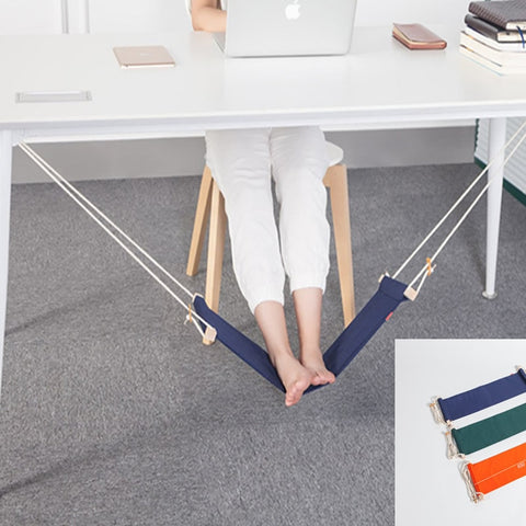 Image of Feistel Desk Feet Hammock Foot Chair Care Tool The Foot Hammock Outdoor Rest Cot Portable Office Foot Hammock Mini Feet Rest