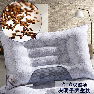 Image of Lavender Buckwheat Pillow Cervical Magnetic Health Care pillow cervical spine Pillow Semen Cassiae cervical pillow
