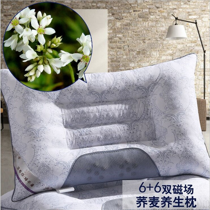 Lavender Buckwheat Pillow Cervical Magnetic Health Care pillow cervical spine Pillow Semen Cassiae cervical pillow