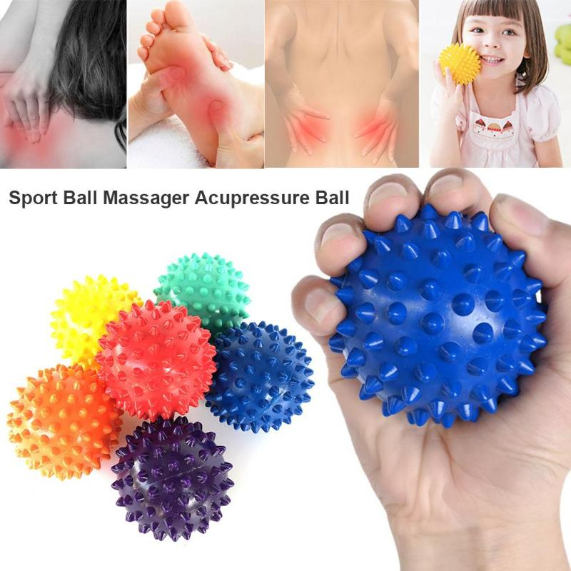 PVC Spiky Massage Ball Trigger Point Sport Fitness Hand Foot Pain Stress Relief Fitness Accessories Muscle Relax Ball 6 Colors