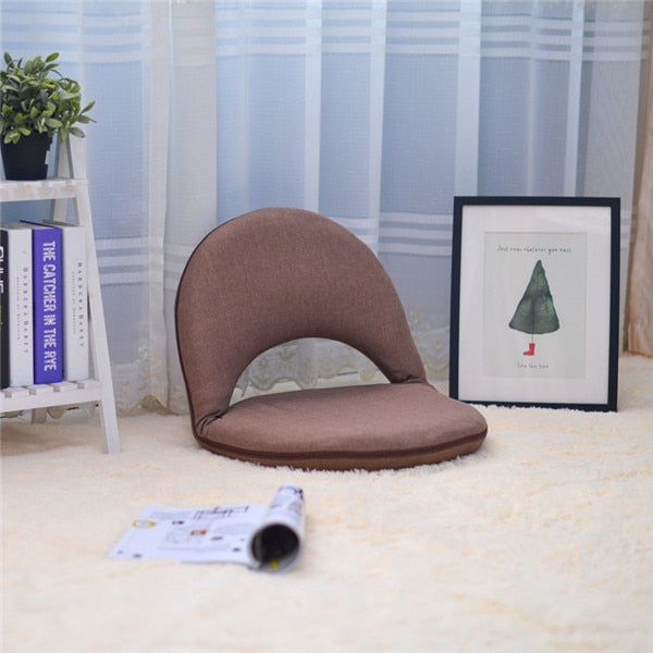 Padded Floor Chair with Adjustable Backrest Living Room Furniture Leisure Chair For Meditation, Seminars, Reading, TV Watching