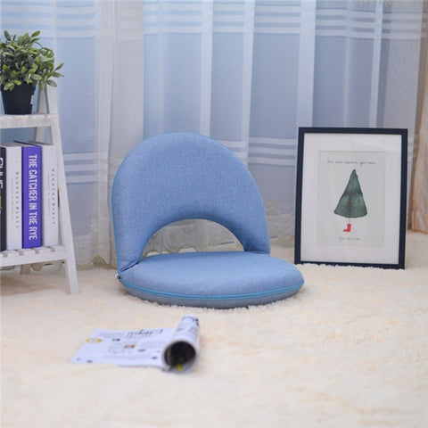 Image of Padded Floor Chair with Adjustable Backrest Living Room Furniture Leisure Chair For Meditation, Seminars, Reading, TV Watching