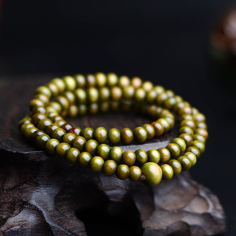 Image of Pulseras 108 Beads 6mm Natural Sandalwood Buddhist Buddha Wood Prayer Bead Mala Unisex Men Bracelets & Bangles Jewelry Bijoux