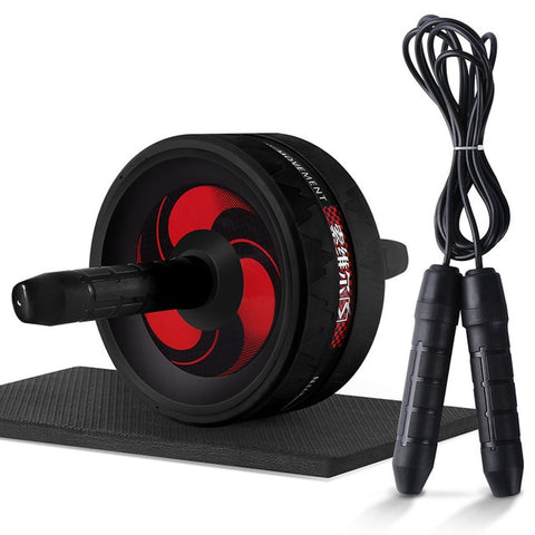 Image of Roller&Jump Rope No Noise Abdominal Wheel Ab Roller with Mat  For Exercise Fitness Equipment Accessories Body Building