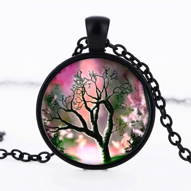 SUTEYI Newest Tree Of Life Statement Necklace Art Photo Glass Cabochon Pendant Charm Women Choker DIY Necklace For Gifts Jewelry