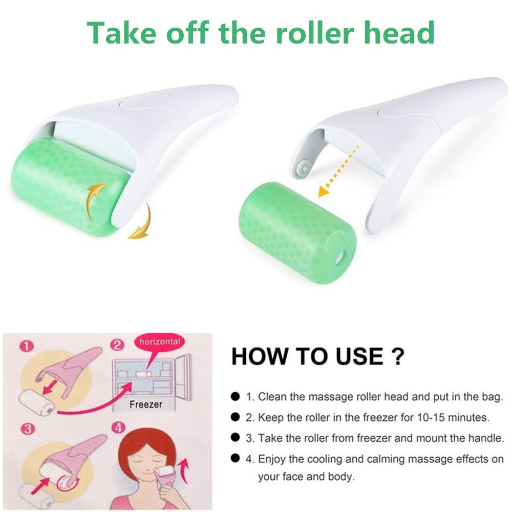 TOP BEAUTY Face Roller Cool Ice Roller Massager Skin Lifting Tool Face Lift Massage Anti-stress Pain Relief Face Skin Care Tools