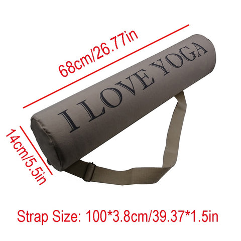 Image of Thick Yoga Mat Bag Canvas Cotton Carrier Shoulder Yoga Mat Bag Lightweight Durable Backpack Gym Pilates Yoga Mats Case Bags
