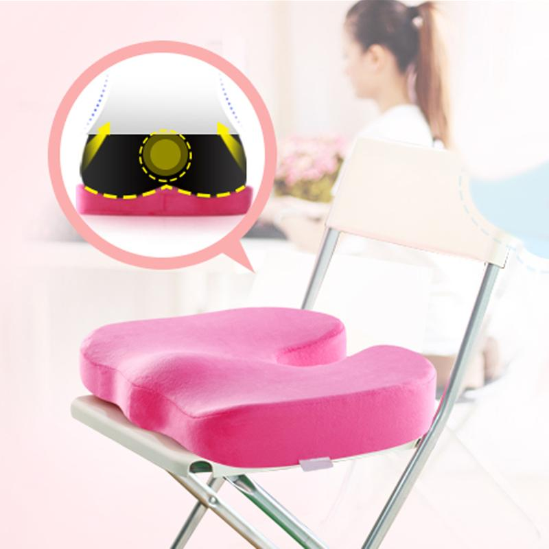 Travel Seat Cushion Coccyx Orthopedic Memory Foam U Seat Massage Chair Cushion Pad Car Office Massage Cushion
