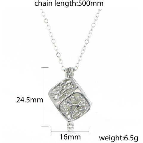 Image of Tree Of Life Dark Luminous Necklaces Silver Color Chain Necklace Glowing in Dark Pendant Necklaces Collares Maxi Choker Jewelry
