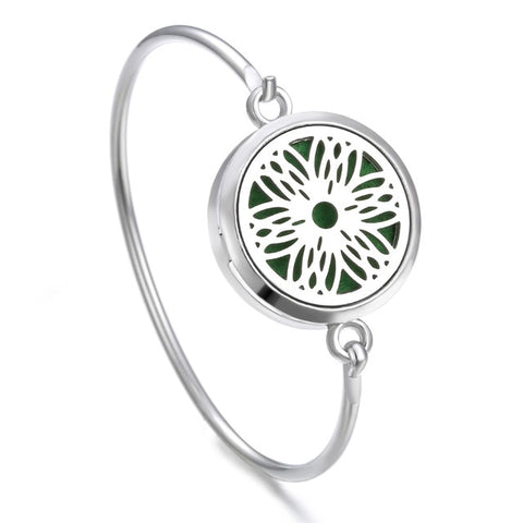 Image of Tree of Life Locket Bracelet Bangle Christmas Stainless Steel Essential Oil Diffuser Perfume Aromatherapy Aromatherapy Bracelet