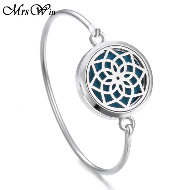 Tree of Life Locket Bracelet Bangle Christmas Stainless Steel Essential Oil Diffuser Perfume Aromatherapy Aromatherapy Bracelet