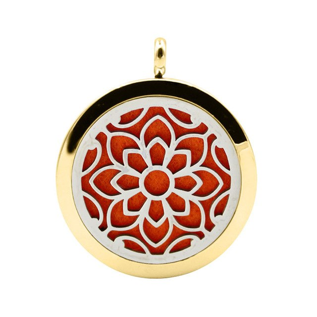 UBELIEVE Flower Aromatherapy Essential Oil Diffuser Necklace Stainless Steel Magnetic Perfume Locket Jewelry With Chain
