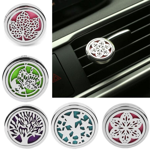 Image of Vehemo Car Perfume Aromatherapy Essential Oil Diffuser Air Vent Flavoring Car-styling Air Freshener Decoration Perfumes Clip