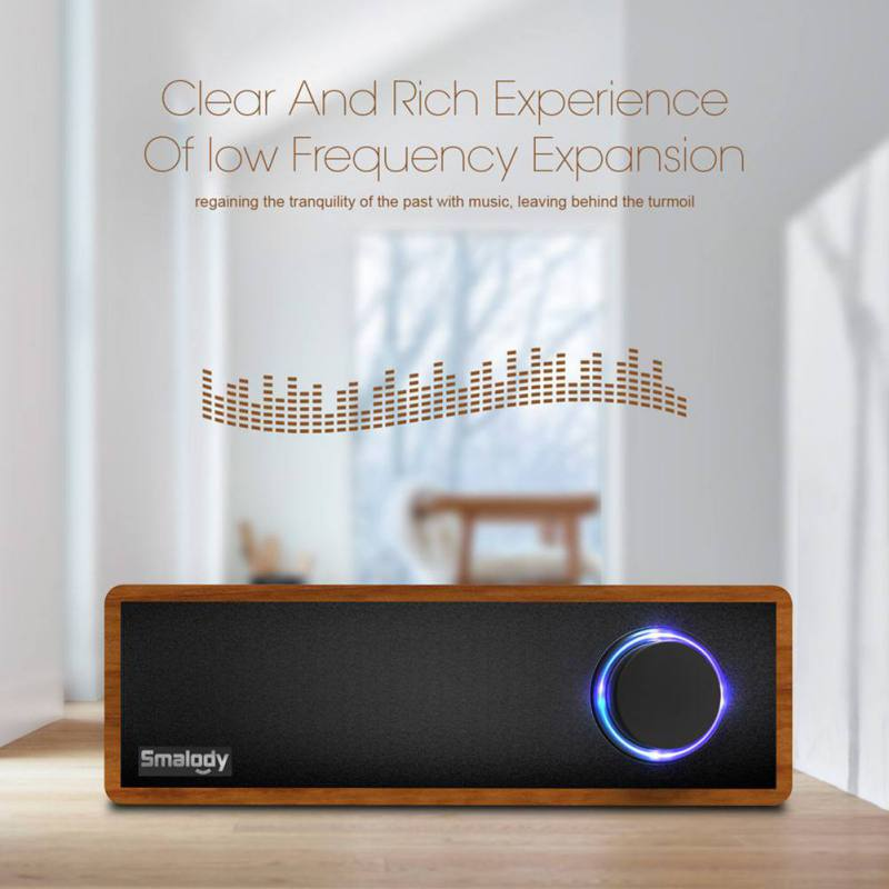 Wooden Retro Wireless Bluetooth Speaker Mp3 Player 1500mAh Large Battery Portable Mini Bluetooth 4.2+EDR Speakers