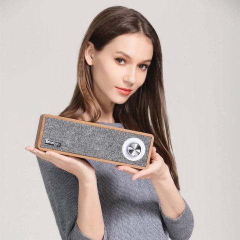 Image of Wooden Retro Wireless Bluetooth Speaker Mp3 Player 1500mAh Large Battery Portable Mini Bluetooth 4.2+EDR Speakers
