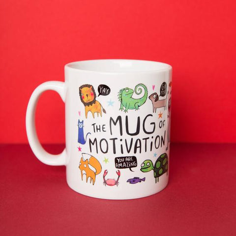 Image of The Mug of Motivation - Illustrative - Gift for her - Gift for him - Exam - New Job - Confidence Boost - Katie Abey - housewarming