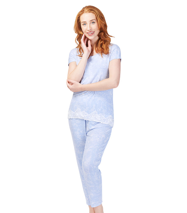 Ladies Botanical Studies Tee & Tapered Pant Set