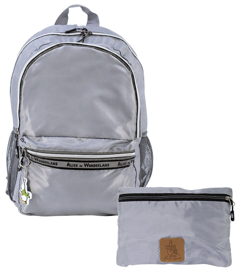 Alice In Wonderland Foldable Backpack - Grey