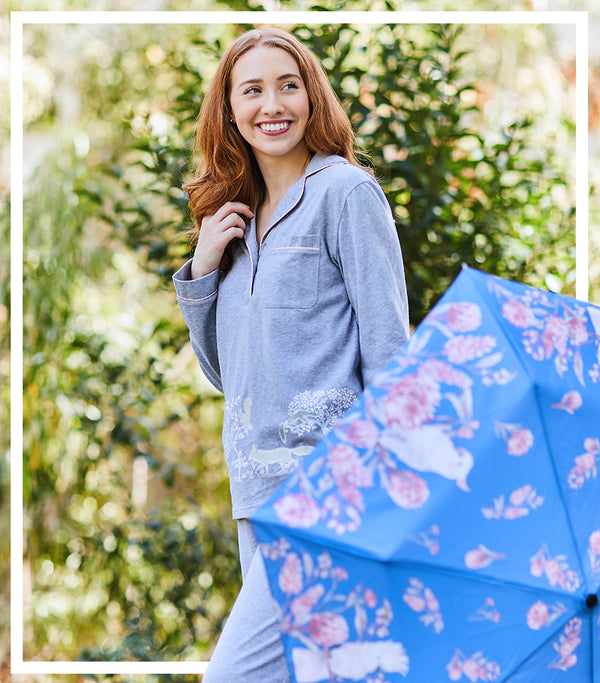 Winter Gift Set - Into the Woods Pyjama Set & Winter Outback Umbrella