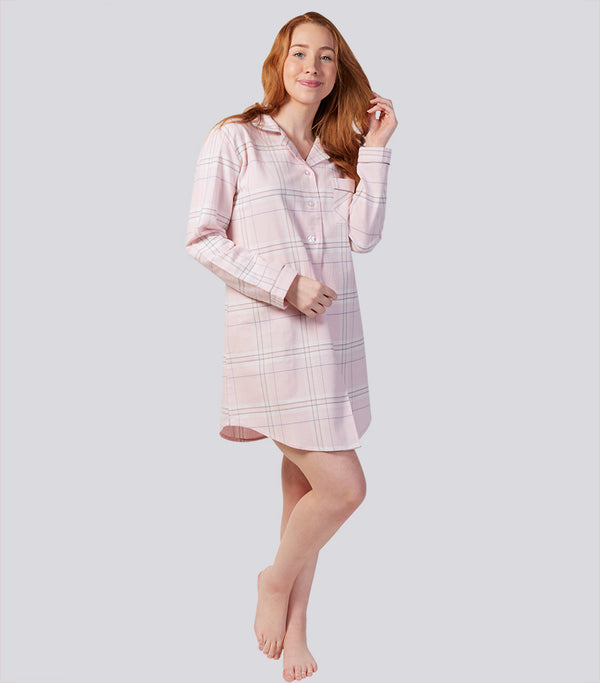 Winter's Bloom Cotton Flannelette Sleep Shirt