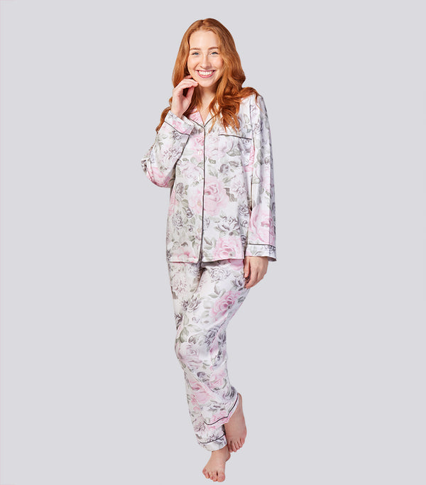 Winter Floral Viscose Cotton Pyjama Set