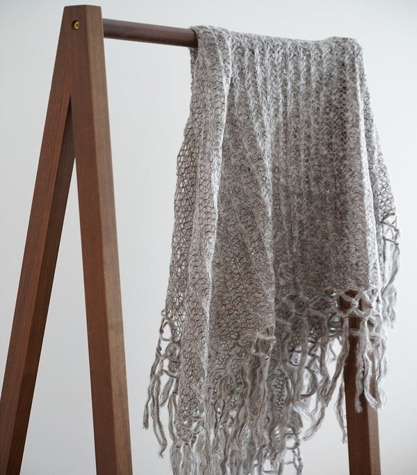 Hand Knitted Mohair Shawl Wrap Scarf - Magnolia Lounge