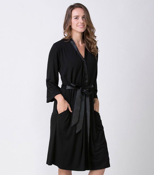 Ladies Super Soft Knit Lounge Robe - Magnolia Lounge
