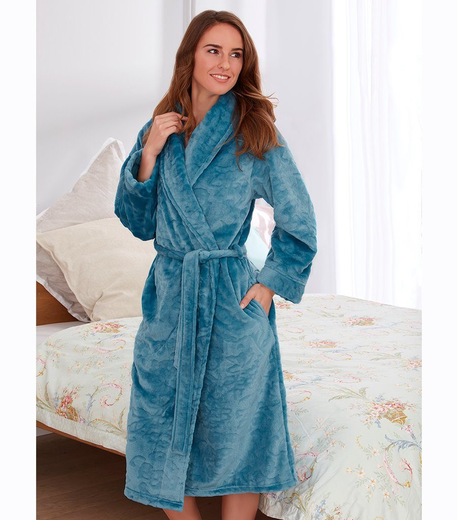 Jade Shawl Collar Dressing Gown - Magnolia Lounge