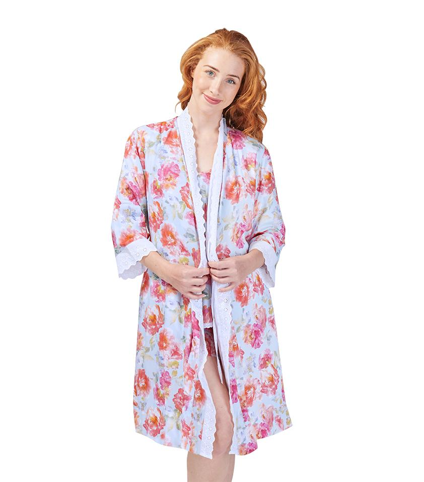 Gowns - Ladies English Rose Dressing Gown
