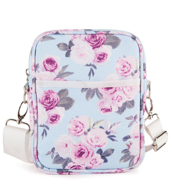 Icy Rose Canvas Cross Body Travel Bag - Magnolia Lounge